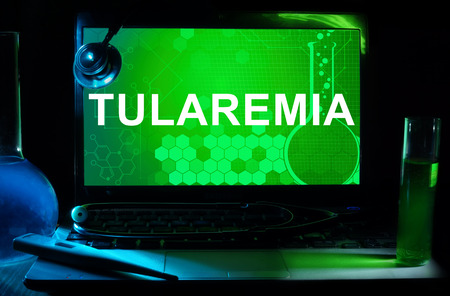 infectious: Computer with words Tularemia.