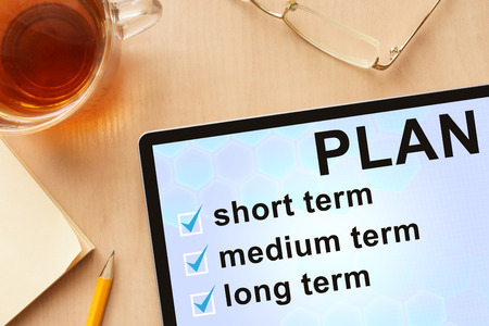 classification: Tablet with words   plan classification by time.