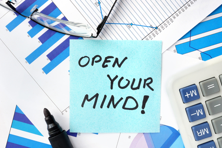 open mind: Papers with graphs and words open your mind.