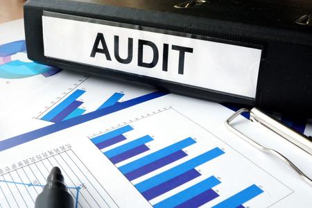 auditoría: Carpeta con el AUDIT y gráficos etiqueta
