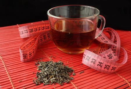 Tazza di tè verde per la perdita di peso
