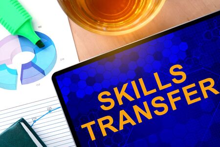 transferable: Words Skills Transfer on the tablet and charts.