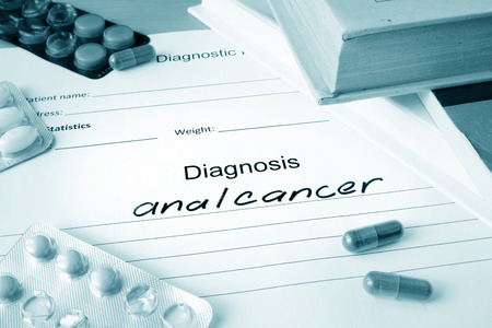 anal: Diagnostic form with anal cancer.