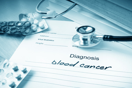 hematopoietic: Diagnostic form with blood cancer. Stock Photo