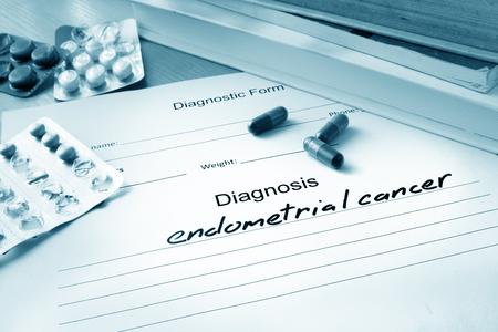 endometrial: Diagnostic form with endometrial cancer.