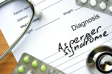 asperger syndrome: Diagnosis Asperger syndrome and tablets.