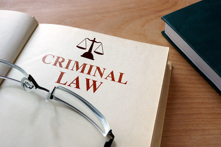 sentence: criminal law Stock Photo