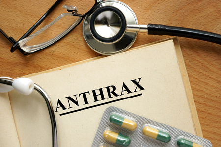 anthrax: Word Anthrax. Medical concept.