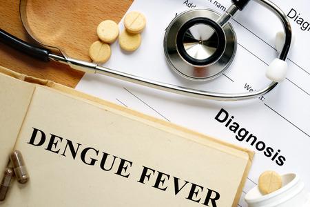 Word Dengue fever. Medical concept. Banco de Imagens