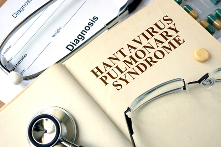 nombre: Word Hantavirus Pulmonary Syndrome HPS. Medical concept.