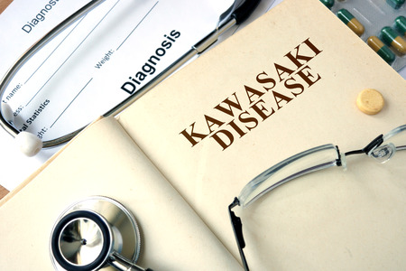 Word Kawasaki disease. Medical concept.