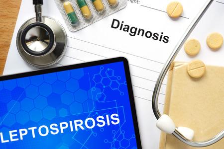 haemorrhage: Word Leptospirosis. Medical concept.