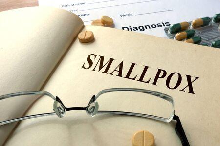 smallpox: Word Smallpox. Medical concept. Stock Photo