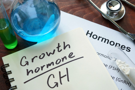growth hormone written on notebook. Banque d'images