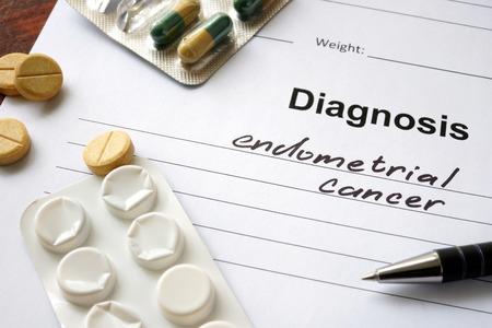 relaciones sexuales: El diagnóstico de cáncer de endometrio por escrito en forma de diagnóstico y las píldoras.