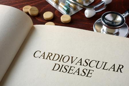 lipoprotein: Book with diagnosis   cardiovascular disease. Medical concept. Stock Photo
