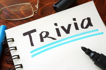 trivia: Word Trivia concept written on a notebook.