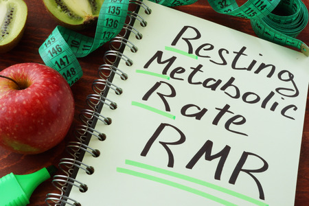 metabolic: RMR Resting metabolic rate written on a notepad sheet.