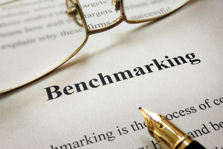 benchmarking: Page of paper with words Benchmarking
