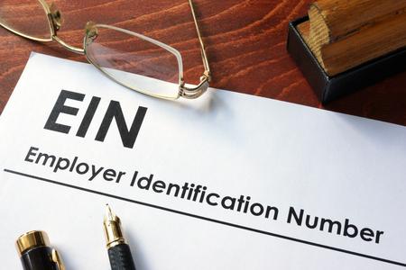 고용주 식별 번호 (Employer Identification Number, EIN)라고도 알려진 연방 고용주 식별 번호 (FEIN).