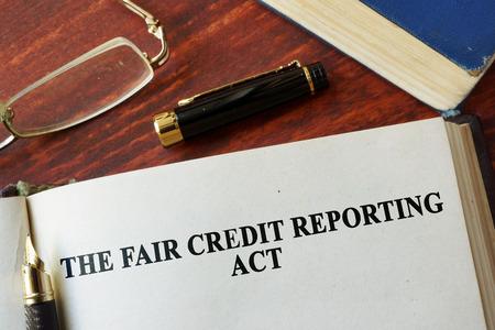公正信用報告法 FCRA ページに書かれています。 写真素材