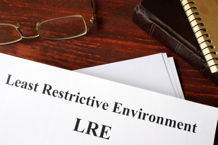 restrictive: Paper with title Least restrictive environment LRE.