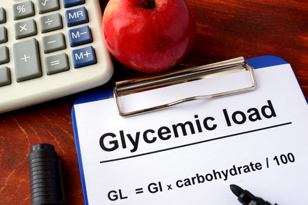 fat food: Paper with title Glycemic load and formula.