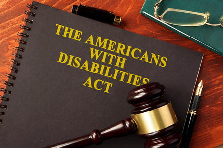 Book with title The Americans with Disabilities Act (ADA).