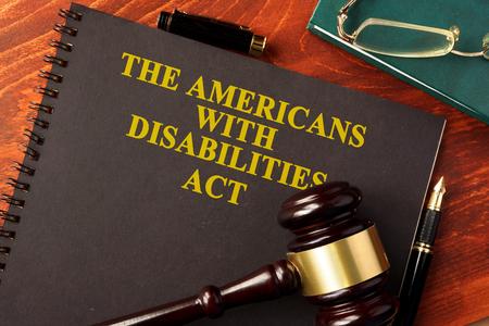 Buchen Sie mit Titel The Americans with Disabilities Act (ADA). Standard-Bild
