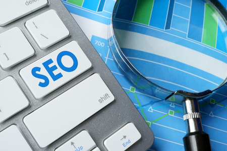 abbreviation: Abbreviation SEO  (search engine optimization) on a keyboard.