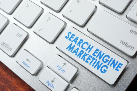 abbreviation: Abbreviation SEM search engine marketing on a keyboard.