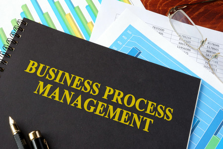 bpm: Book with title BPM Business Process Management.