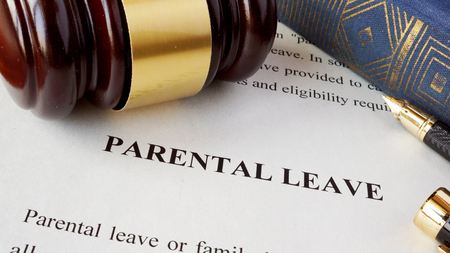 parental: Page with title Parental leave and gavel.