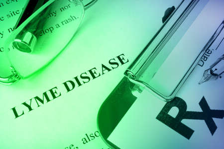 Diagnosis Lyme disease written on a page.