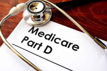 Document with the title Medicare Part D. Foto de archivo