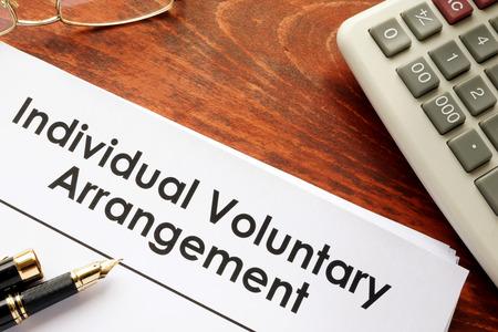 Document met titel Individueel vrijwillig arrangement IVA.