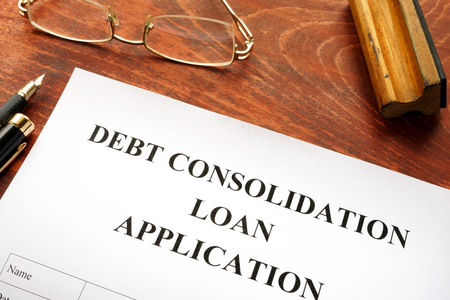 Document with the title debt consolidation loan.