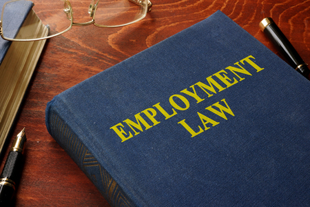 employment: Book with title employment law.