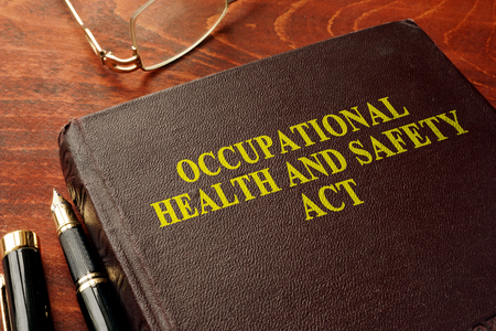 Title occupational health and safety act OHSA on the book.