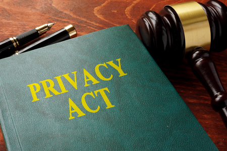 data protection act: Title privacy act on the book.