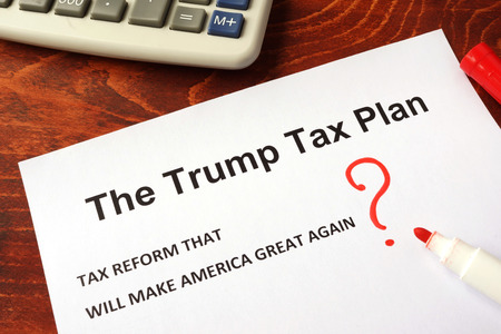 The Trump tax plan. Tax reform concept. 版權商用圖片 - 77770891