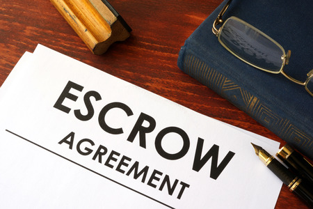 escrow: Document with title escrow agreement.