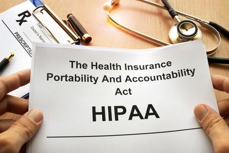 HIPAA.  The Health Insurance Portability and Accountability Act of 1996.
