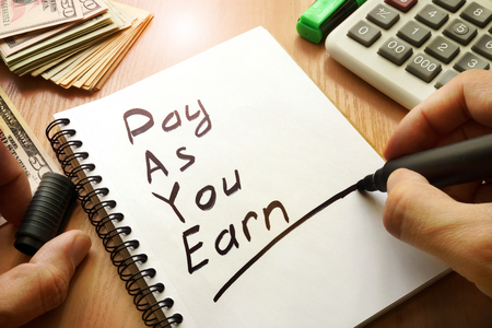Pay As You Earn – PAYE written in a note.