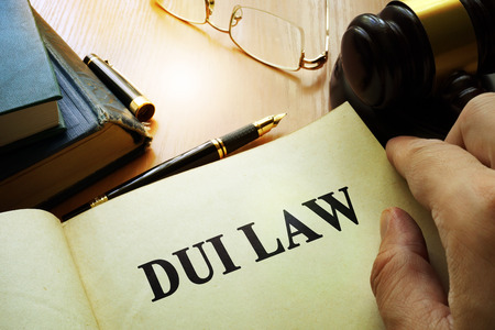 dui: DUI law.  Driving Under the Influence concept. Stock Photo