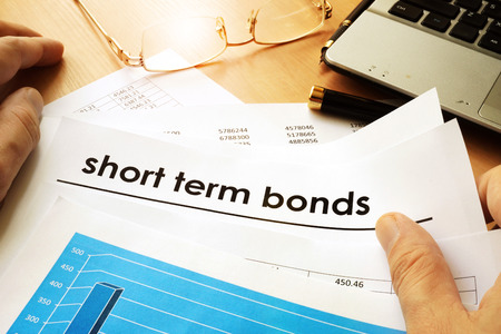 Papers with title short term bonds. Stok Fotoğraf