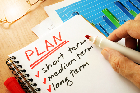 Planen Sie mit der Liste kurz, mittel und langfristig.