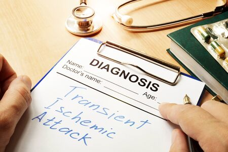 transient: Transient Ischemic Attack (TIA) written on a diagnosis form.