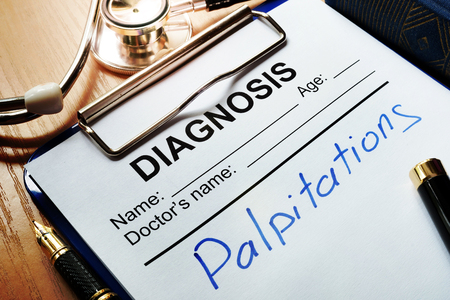 Diagnosis form with disease palpitations.