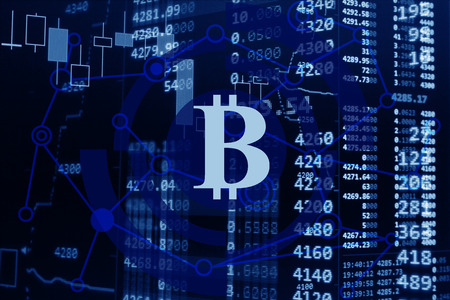 Stock market of cryptocurrency and bitcoin concept.